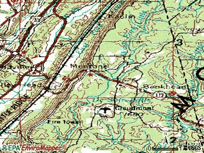Mentone topographic map