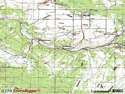 Naturita topographic map