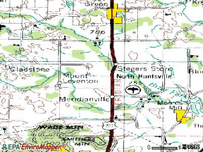 Meridianville topographic map