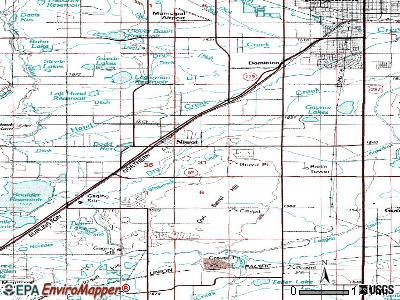 Niwot topographic map