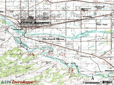 Orchard Mesa topographic map