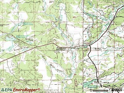 Pagosa Springs topographic map