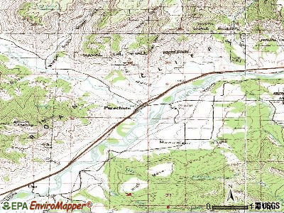 Parachute topographic map