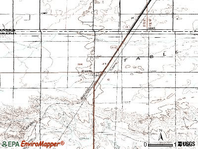 Peetz topographic map