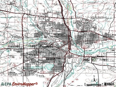 Pueblo topographic map