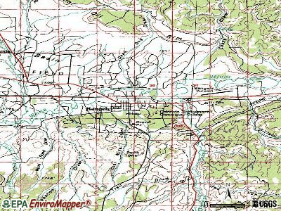 Rangely topographic map