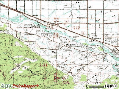 Redlands topographic map