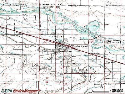 Rocky Ford topographic map