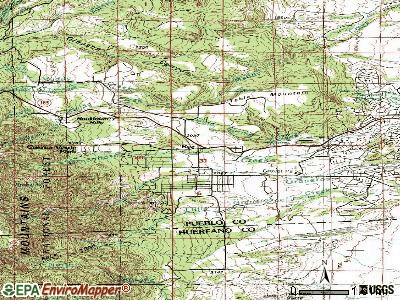 Rye topographic map