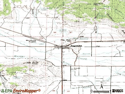 Saguache topographic map