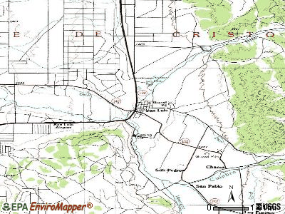 San Luis topographic map