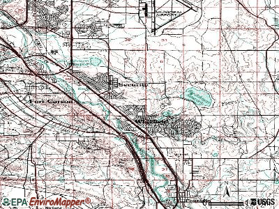 Security-Widefield topographic map