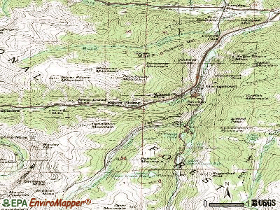 Silver Plume topographic map
