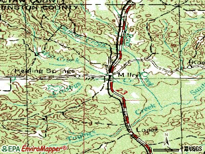 Millry topographic map