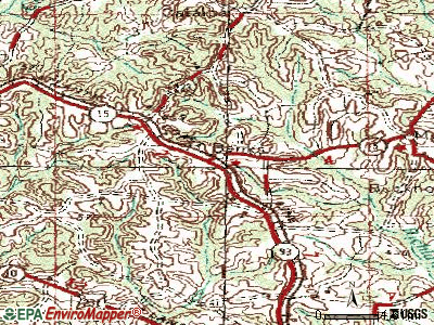Banks topographic map
