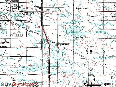 Timnath topographic map