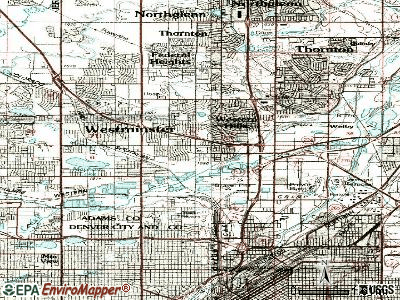 Twin Lakes topographic map