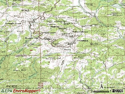 Victor topographic map