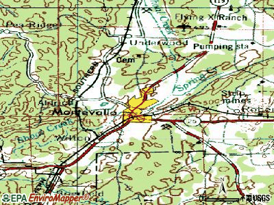 Montevallo topographic map