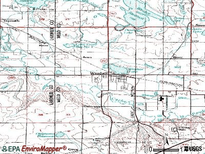 Yampa topographic map