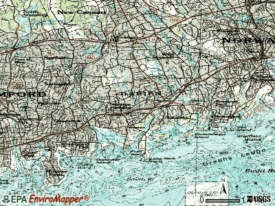 Darien topographic map