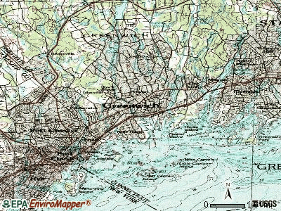 Greenwich topographic map