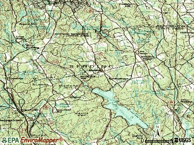 Redding topographic map