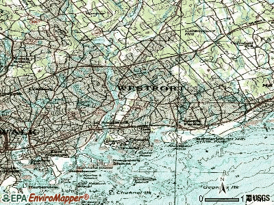 Westport topographic map