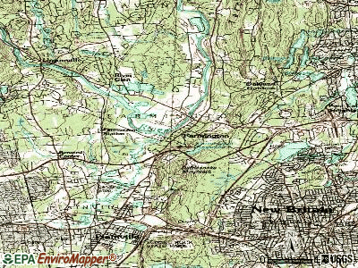 Glastonbury topographic map