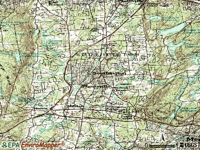Southington topographic map