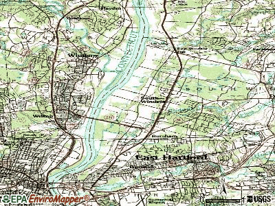 South Windsor topographic map