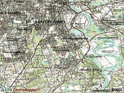 Wethersfield topographic map