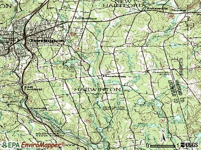 Harwinton topographic map