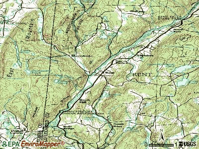 Kent topographic map