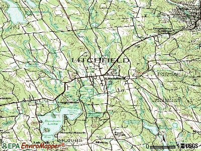 Litchfield topographic map