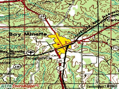 Bay Minette topographic map