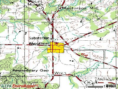Moulton topographic map