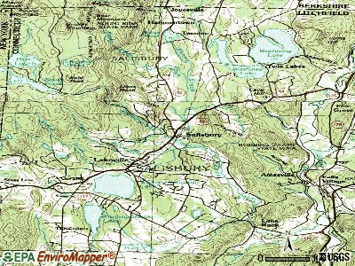 Salisbury topographic map