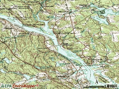 East Haddam topographic map