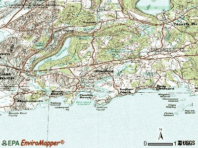 Branford topographic map