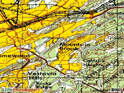 Mountain Brook topographic map