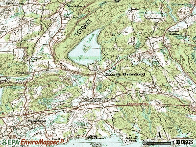 North Branford topographic map
