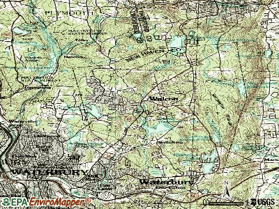 Wolcott topographic map