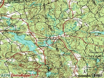 Voluntown topographic map