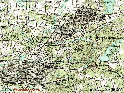 Vernon topographic map