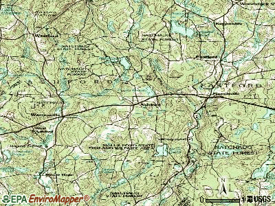 Ashford topographic map