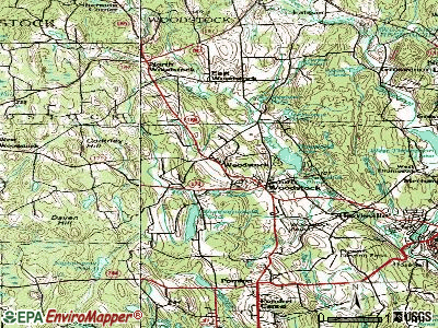 Bantam topographic map