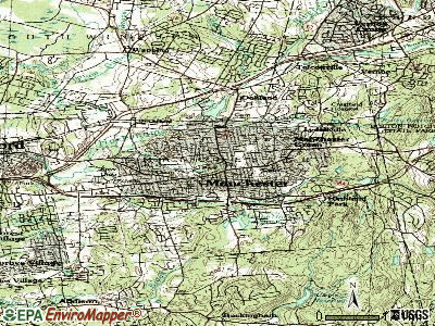 Central Manchester topographic map