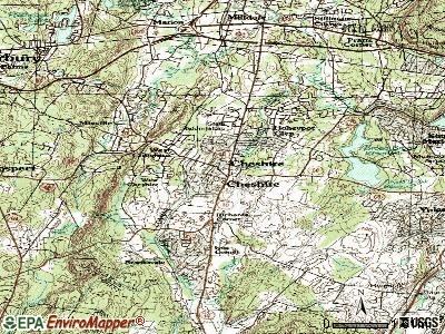 Cheshire Village topographic map