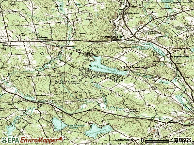 Coventry Lake topographic map